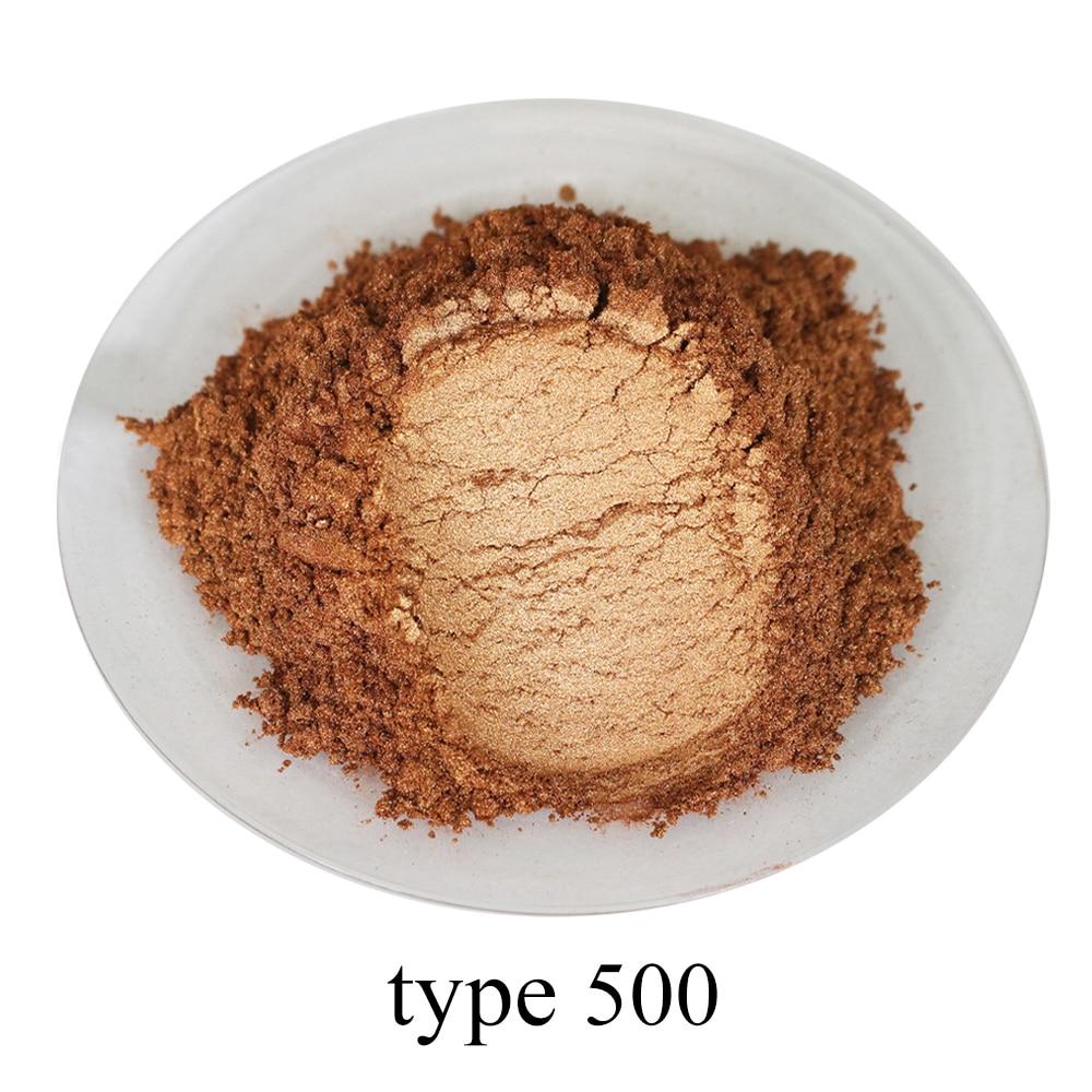 #500 Bronze Pearl Powder Pigment Acrylic Paint In Craft Art Automotive Paint Soap Eye Shadow 50g Paint Mica Powder Pigment