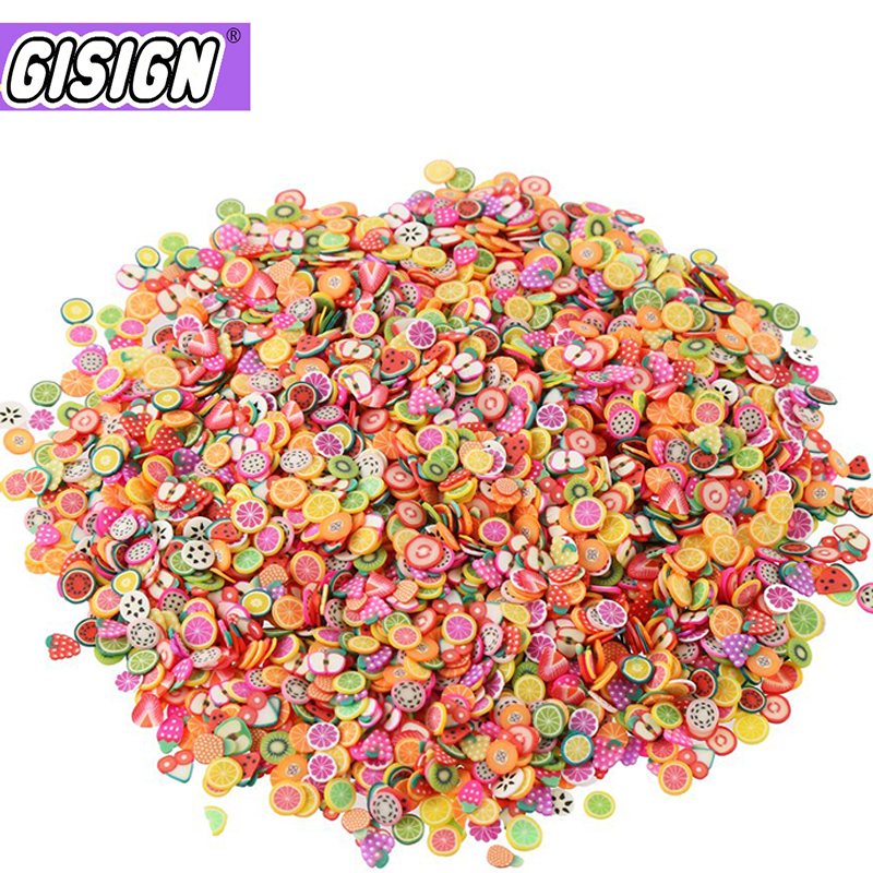10000pcs Fruit Slices Addition Contain For Slime Fruit Filler All For Nail Art Slime Charms Accessories Supplies Decor Toy