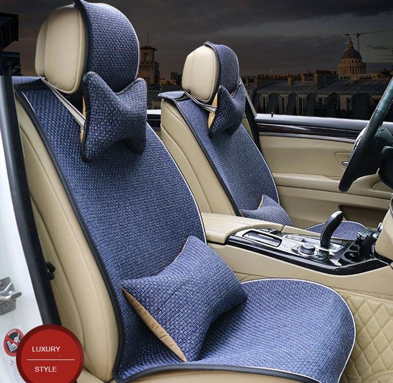 Универсальный льняной тканевый чехол для автомобильного сиденья для ford mondeo mk4 peugeot 3008 lada vesta citroen c4 чехлы для авто
