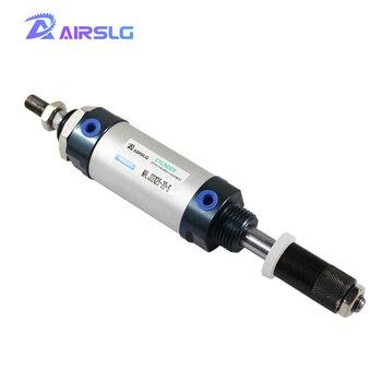 MALJ adjustable stroke air pneumatic cylinder Double Acting Single Rod MALJ20X50-25 MALJ25X75-50S MALJ32X100-50S MALJ32X150-50-S sc63 125 s 63mm bore 125mm stroke sc63x125 s sc series single rod standard pneumatic air cylinder sc63 125 s