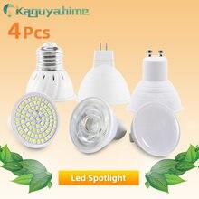 Kaguyahime 4Pcs E27 LED MR16 GU10 Lamp Spotlight Bulb Bombillas AC 220V LED Spot Light SMD 2835 Lampara High Bright Home Light