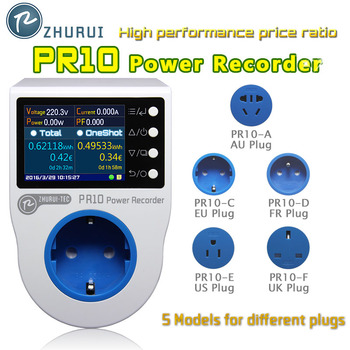 ZHURUI PR10 home power metering plug socket / home energy meter/electricity meters/16 currency units