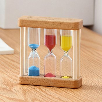Creative 1/3/5 Minute Wooden Sand Glass Hourglass Timer Clock Home Decor Gift For Childern Simple Style недорого