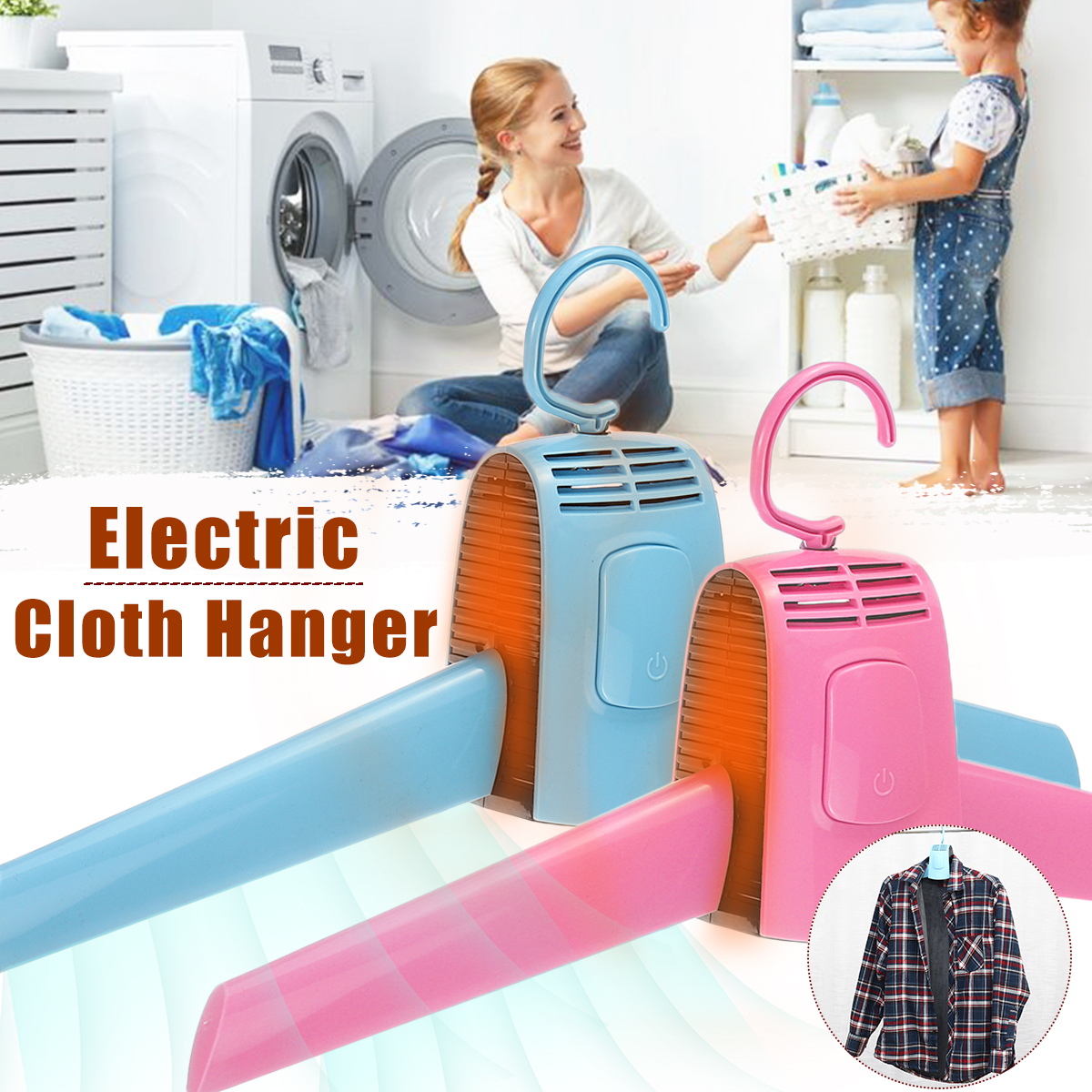 110V-220V Electric Clothes Hanger Portable Drying Cloth Machine Rack Home Indoor Dorms Dryer Shoes Clothes Hot Cold Rack