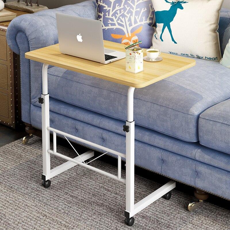 Домашний мобильный стол для ноутбука, прикроватный компьютерный стол, передвижной регулируемый столик для ноутбука, столик для учебы, компьютерная подставка, диван кровать - 2