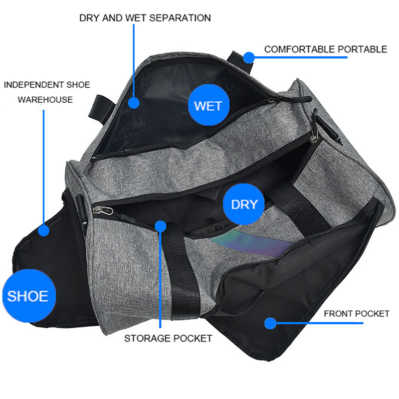 Dry And Wet Fitness Bag Fashion Gym Tas Sac A Dos Sport Outdoor Women Sports Bags For Men Gym Bag Shoe Compartment Training Bag 5