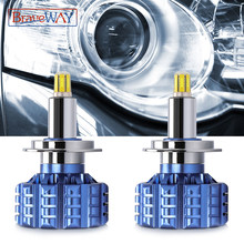 Braveway 360 iluminação baixo feixe h1 led h7 h11 hb3/9005 hb4/9006 led farol com lente led canbus lâmpadas de carro para projetor