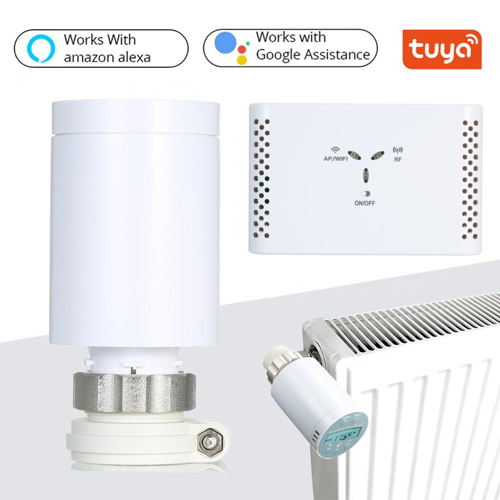 Professional Portable WIFI Smart Thermostat Temperature Controller Gateway Kit For Water Floor Heating Voice Remote Control