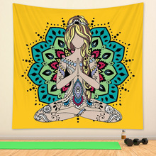 Witchcraft Tapestry Mattress Yoga-Mat Wall-Decoration Indian Bohemian Mysterious