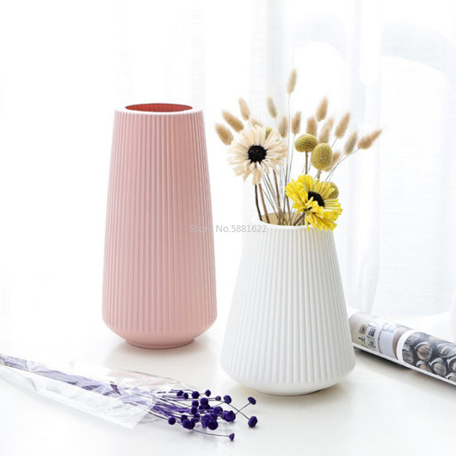 Anti-ceramic Vase 13x20cm  European Home Decorations Plastic Vase Shatter-resistant Wedding Dried Flowers Real Flowers 2