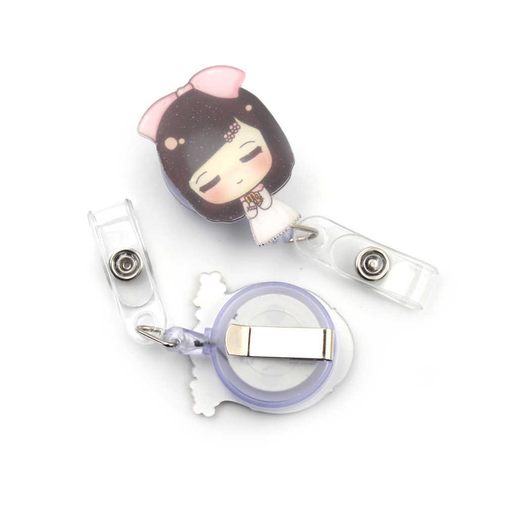 Cute Cartoon Mini chowany odznaka Reel pielęgniarka smycze ID etykieta z imieniem pokrowiec na karty klip Student pielęgniarka pokrowiec na karty