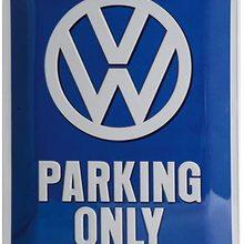 Nostalgic-Art Retro Tin Sign Volkswagen  VW Parking Only Car Gift idea, Metal Plaque,