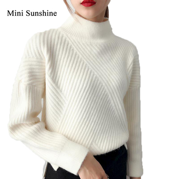 Women Sweater Pullover Cashmere Knitted Jumpers Winter New Fashion Thick Warm Female Clothes Girl Tops z30 фото
