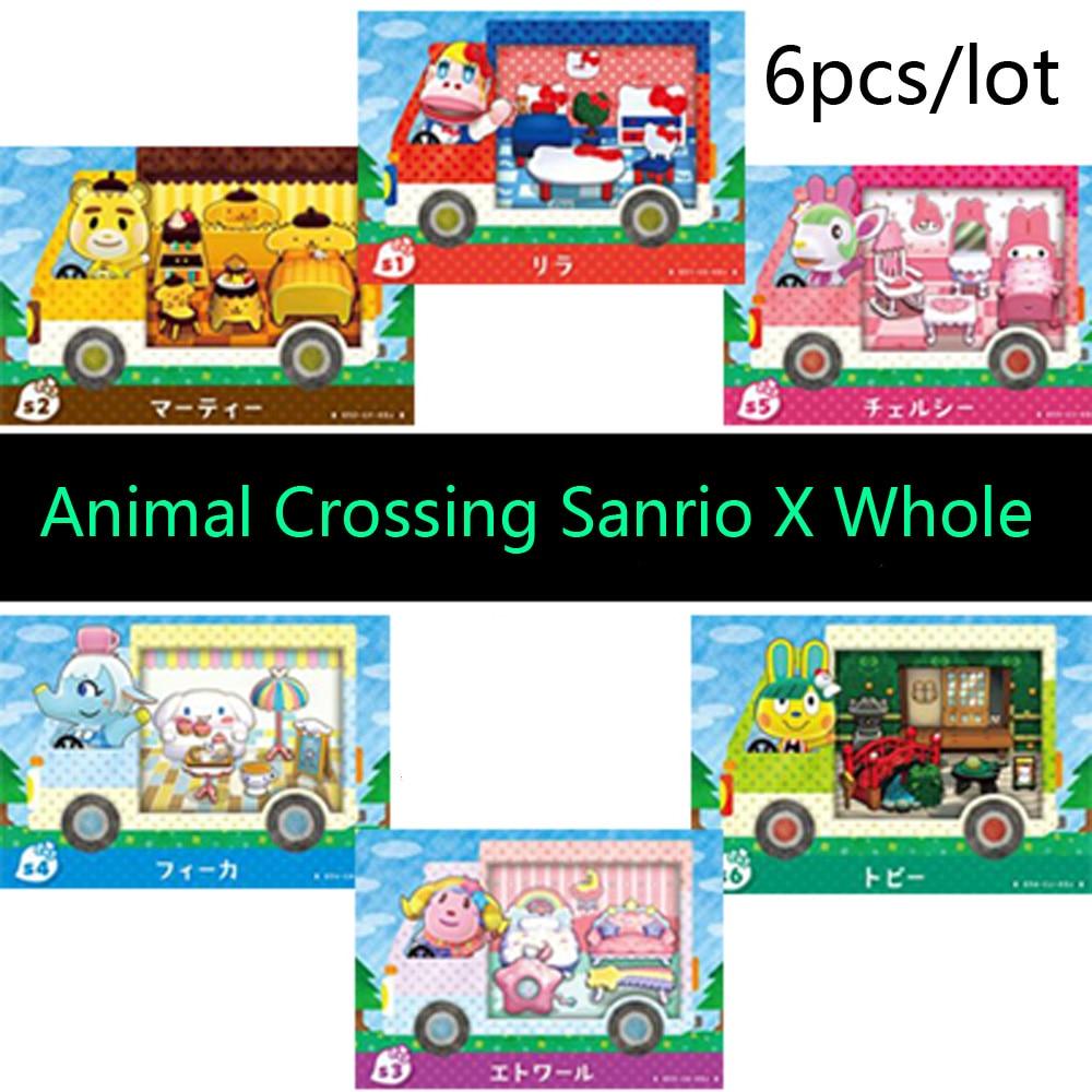 Amiibo Locks Nfc Card For Animal Crossing Sanrio X Whole Set-6 Pcs /lot