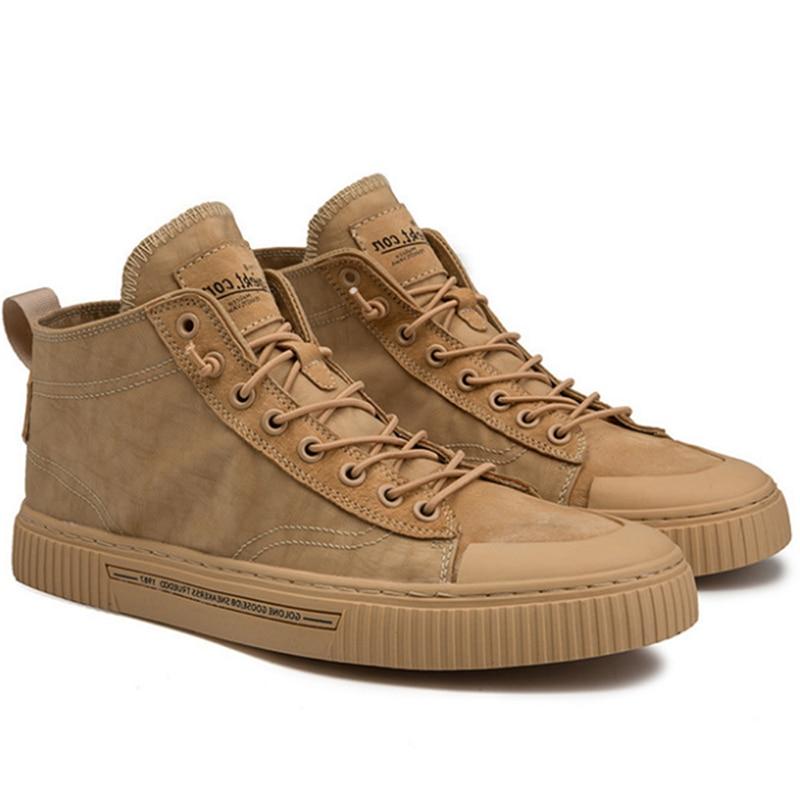 TaoBo с высоким берцем повседневная обувь для Для мужчин цвета хаки на открытом воздухе спортивные кроссовки для мужчин размеры 39–44 светильн...