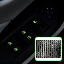 Calcomanía luminosa multifunción para coche, pegatina de botón para VW Polo Golf 4 5 6 7 Beetle MK2 MK3 MK4 MK5 MK6 Bora CC Passat B6 B5