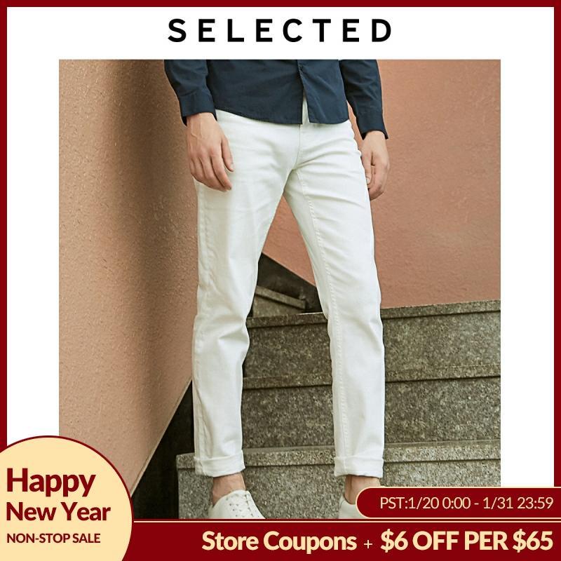 SELECTED Stretch Denim Pants Black Tight-leg Jeans C|419132508