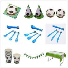 Football Pattern Children Birthday Festival Atmosphere Party Series Cartoon Pattern Party Suit Football(China)