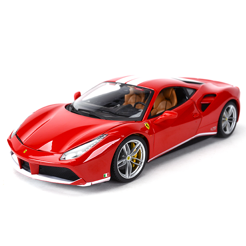 Bburago 1:18 488 GTB 70th Anniversary Collection Sports Car Static Simulation Diecast Alloy Model Car