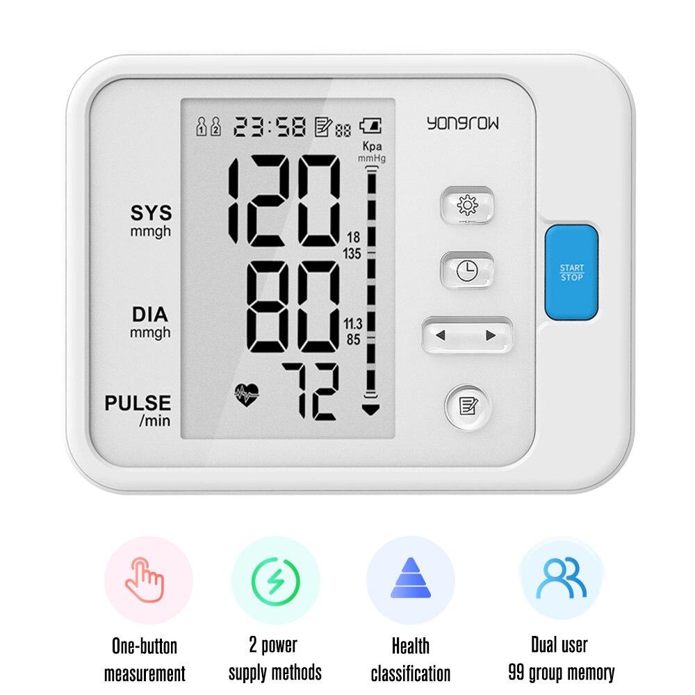Yonker nouveau OLED doigt oxymètre de pouls et bras tensiomètre et bébé thermomètre infrarouge famille soins de santé cadeau - 6