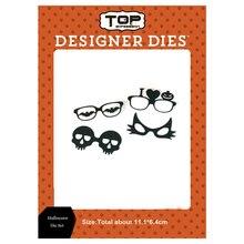 11.1*6.4cm glasses Dies Happy Halloween Metal Cutting New Scrapbooking bat pumpkin craft Die Cut for DIY Paper Cards making