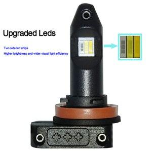 Image 5 - Трехцветный светодиодный противотуманный светильник H11 H8 H9 H16 9006 HB4, белый, желтый, янтарный, Ледяной Синий, светодиодные лампы для передних противотуманных фар 12 В для Toyota