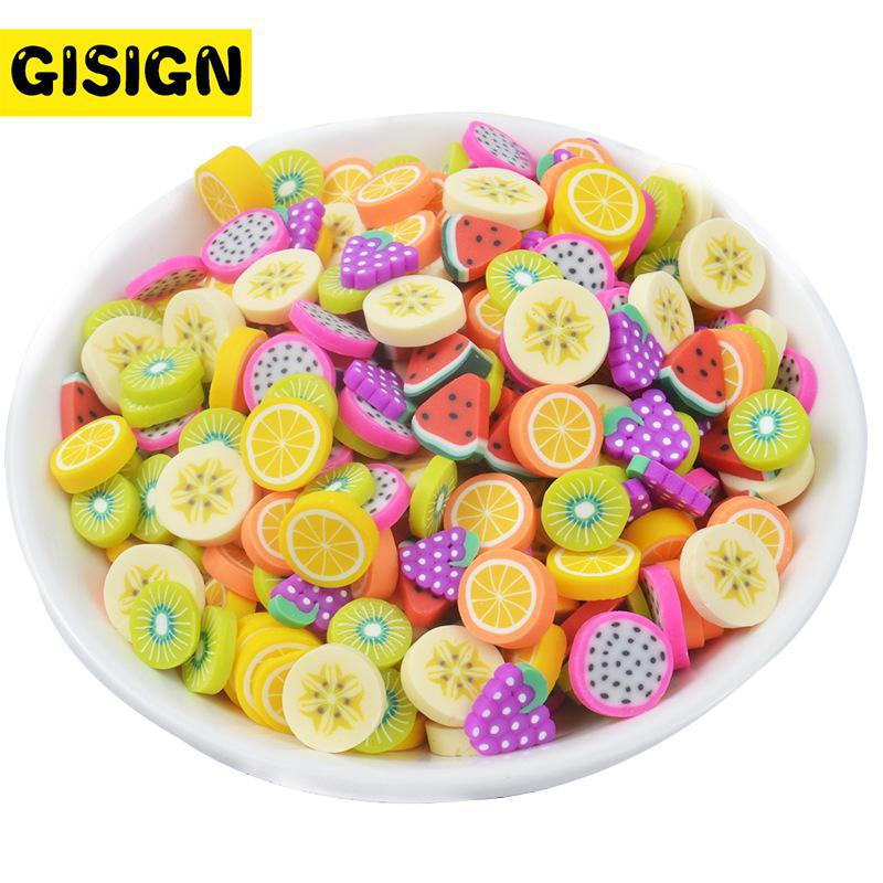 Fruit Figure Slices Slime Playdough Charms For Diy Polymer Filler Addition Accessories Toys Lizun  Modeling Clay Kit For Childre