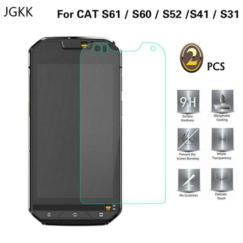 Перейти на Алиэкспресс и купить JGKK 2 шт. для Cat S52 S60 S61 S41 S31 2.5D защитная пленка из закаленного стекла для Celular Caterpillar CAT S60 защитная пленка