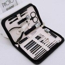 Cross-Border Fashion Zipper Bag Beauty Manicure Manicure Plier Pedicure Knife Stainless Steel Nail Scissor Set Tools Kit