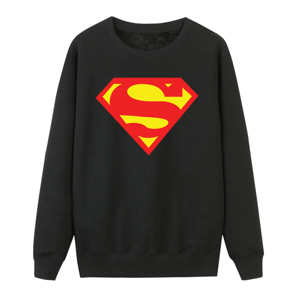 2019 Autumn Winter Women Hoodies Superman Sweatshirts Fleece Casual Crewneck Pullover Hot Sell Super Hero Print Tracksuits