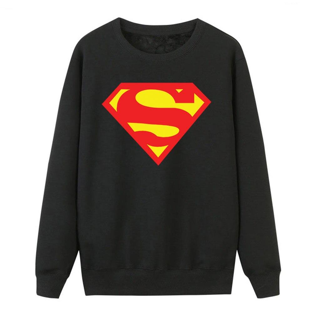 2019 Autumn Winter Women Hoodies Superman Sweatshirts Fleece Casual Crewneck Pullover Hot Sell Super Hero Print Tracksuits