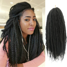 Afro Heat Resistant Synthetic Hair Kinky Marley Braids Hair Jumbo Crochet Braiding Hair Extensions Ombre Twist 30strands/pack