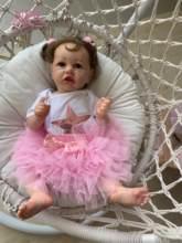 Npk 56cm 100% boneca artesanal com corpo inteiro, pintura detalhada, silicone macio, reborn, bebê, boneca realista, colecionável boneca artística,