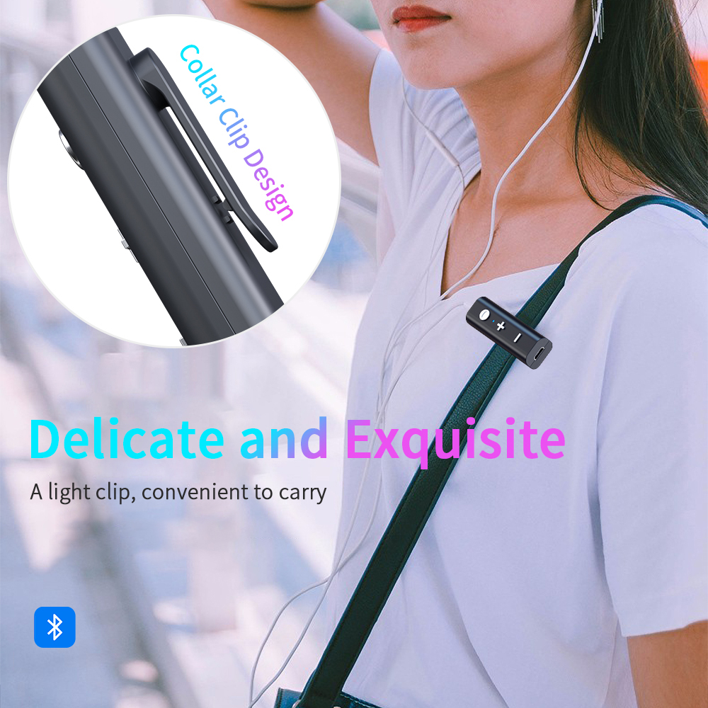Essager Bluetooth 5.0 Receiver For 3.5mm Jack Earphone Wireless Adapter Bluetooth Aux Audio Music Transmitter For Headphone 6