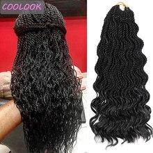 Afro Wave Twist szydełkowe włosy Ombre faliste senegalskie Twist zapleciony doczep do włosów naturalne szydełkowe warkocze syntetyczne włosy dla kobiet
