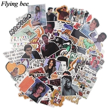 Flyingbee 66 pcs Friends tv shows Sticker pvc Stickers for DIY Luggage Laptop Skateboard Car friendship stickers X0562