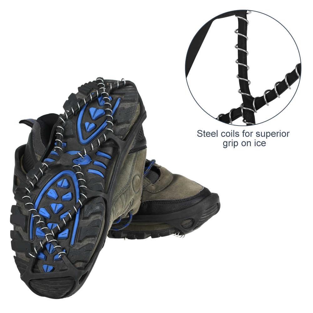 Leo Núi Ngoài Trời Băng Crampons Tuyết Mùa Đông Boot Có Băng Kẹp Chống Trượt Tuyết Lực Kéo Cleats 1