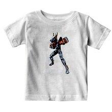 T shirt enfant, estival et élégant, rétro, en pur coton, avec les chevaliers du zodiaque, Saint Seiya