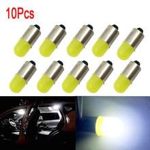 10Pcs BA9S T11 T4W T5 1895 233 Super Bright Round 3D COB LED White Car License Plate Light Auto Interior Door Lamp marker Bulb