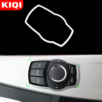 KIQI Stainless Steel Interior Refit Multimedia Buttons Panel Cover Trim for BMW X1 X3 X5 X6 F20 F01 F30 F15 F34 F31 Accessories image