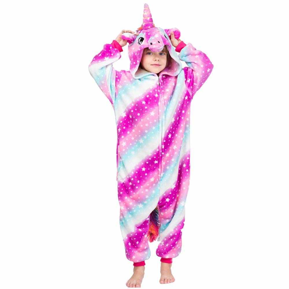 Crianças unicórnio onesies pijamas crianças bebê meninas pijamas meninos pijamas ponto animal veados alcaçuz macacão crianças traje macacão