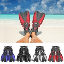 Portable Adjustable Swimming Fins Children Adult Flexible Flippers Shoes Foot Wear Snorkeling Diving Training Sportswear