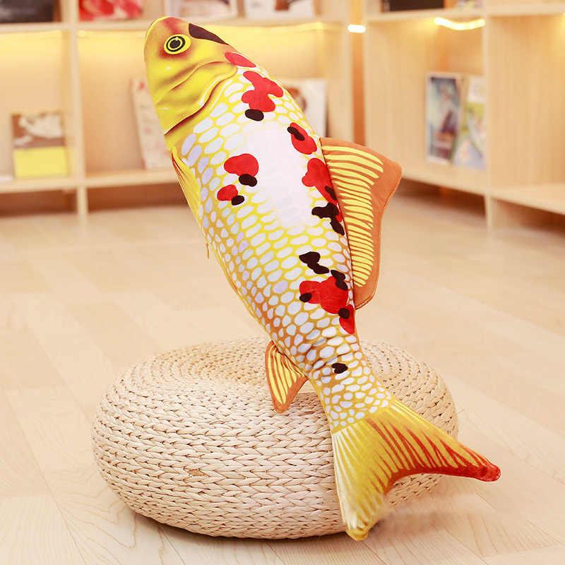 Высокое качество, подушка в форме рыбы, короткая плюшевая подушка для моделирования карпа, кои, плюшевая игрушка для питомца, для детей, кошка, креативный подарок
