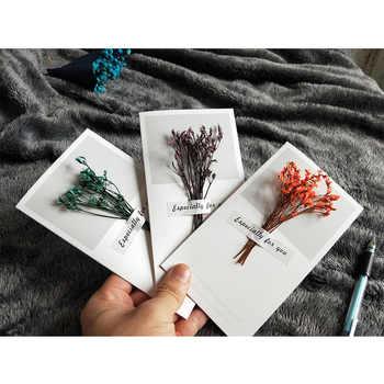 1 ชุด: การ์ดอวยพร DIY Retro กระดาษการ์ดอวยพรการ์ดสร้างสรรค์น่ารักซอง