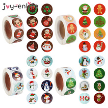 500pcs Merry Christmas Stickers Christmas Tree Elk Sealing Label Sticker DIY Christmas Gift Box Labels Decoration New Year Decor
