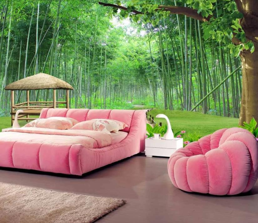 Wallpapers For 3d Living Room Bedroom Bamboo Forest Scenery Customize 2019 Walpaper 3d