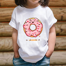 Summer T- Shirt Tops Shirts Children 's Cute Donuts Print T- Shirts 2020 Children 's Short Sleeve Boy Kid Boys and Girls Cartoon 2019 summer children tshirts cartoon oggy and the cockroaches children s summer t shirt boys and girls short sleeved t shirts