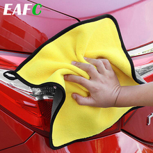 30*30CM Car Microfiber Washing Towel Thick Car Cleaning Cloth Detailing Wash Drying Towel Drying Cloth Hemming Car Care cheap EAFC CN(Origin) Sponges Cloths Brushes Absorbent 0 5cm