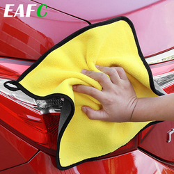 30*30CM Car Microfiber Washing Towel Thick Car Cleaning Cloth Detailing Wash Drying Towel Drying Cloth Hemming Car Care
