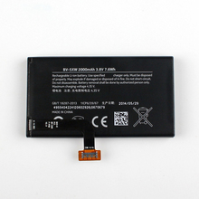 Original BV-5XW phone battery for Nokia Lumia 1020 EOS BV5XW 2000mAh oudini original unlocked working for nokia lumia 1020 motherboard 32gb 100% test free shipping